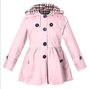 NEW Girls Light Pink Trench Coat